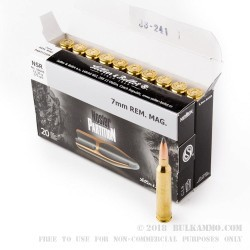 20 Rounds of 7mm Rem Mag Ammo by Sellier & Bellot - 175gr Nosler Partition