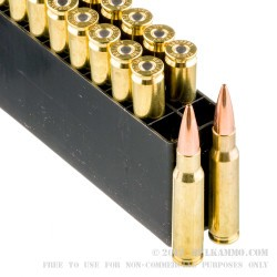 20 Rounds of .308 Win Ammo by Hornady - 168gr HPBT Match