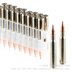 20 Rounds of 30-06 Springfield Ammo by Federal Vital-Shok - 180gr Nosler Partition