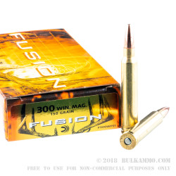 20 Rounds of .300 Win Mag Ammo by Federal Fusion - 150gr Fusion