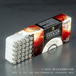 50 Rounds of 9mm + P Ammo by Federal Prmium Tactical - 124gr HST JHP