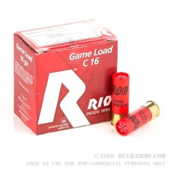 25 Rounds of 16ga Ammo by Rio Ammunition - 1 ounce #8 Shot