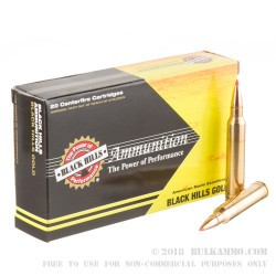 20 Rounds of .300 Win Mag Ammo by Black Hills Gold Ammunition - 165gr GMX