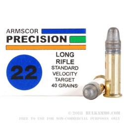 1000 Rounds of .22 LR Ammo by Armscor - 40gr LS