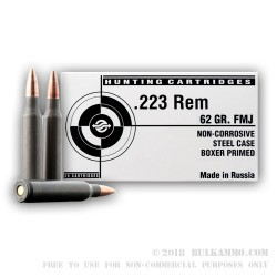 Cheap Tula 223 Rem 62 gr FMJ Ammo For Sale