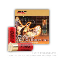 25 Rounds of 12ga Ammo by PMC -  #6 shot