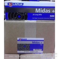50 Rounds of .22 LR Ammo by Lapua Midas+ - 40gr LRN