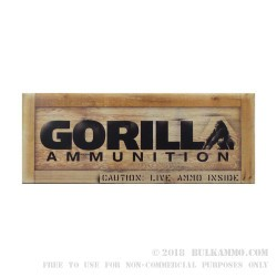 20 Rounds of .300 AAC Blackout Ammo by Gorilla Ammunition - 220gr Sierra MatchKing OTM