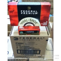 20 Rounds of .308 Win Ammo by Federal - 165gr TSX Barnes