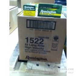 50 Rounds of .22 LR Ammo by Remington - 40gr PRN Golden Bullet