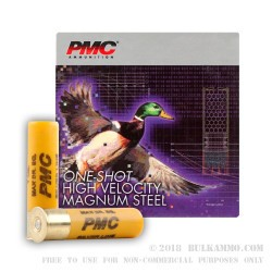 25 Rounds of 20ga Ammo by PMC -  #6 Shot (Steel)