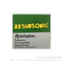 50 Rounds of .22 LR Ammo by Remington - 38gr LHP