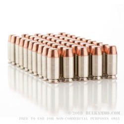 50 Rounds of .40 S&W Nickel Plated Ammo by Remington - 180gr MC