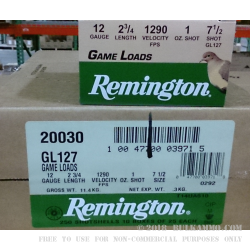 25 Rounds of 12ga Ammo by Remington - 1 ounce #7 1/2 shot
