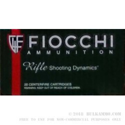 200 Rounds of .243 Win Ammo by Fiocchi - 70gr PSP