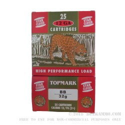 250 Rounds of 12ga Ammo by TOPMARK -  BB