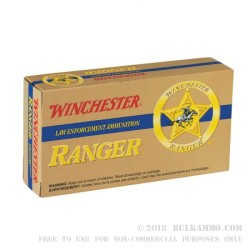 500 Rounds of .38 Spl +P+ Ammo by Winchester Ranger - 110gr JHP