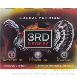 5 Rounds of 12ga Ammo by Federal 3rd Degree - 2 ounce #5 shot