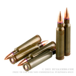 20 Rounds of .223 Rem Ammo by Red Army Standard - 56gr FMJBT