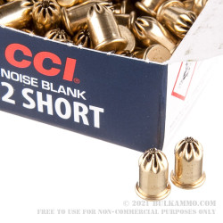 100 Rounds of .22 Short Ammo by CCI - Blanks