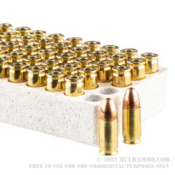 100 Rounds of 9mm Ammo by Browning - 115gr FMJ