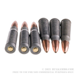 40 Rounds of 7.62x39mm Ammo by Tula - 124gr HP