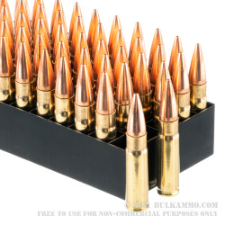 100 Rounds of .300 AAC Blackout Ammo by Fiocchi - 150gr FMJBT
