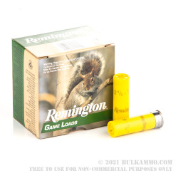 250 Rounds of 20ga Ammo by Remington - 7/8 ounce #6 shot