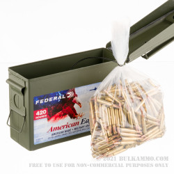 420 Rounds of .223 Ammo by Federal American Eagle in Ammo Can - 55gr FMJBT