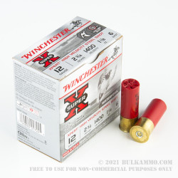 """25 Rounds of 12ga 2-3/4"""" Ammo by Winchester - 1 1/8 ounce #6 Shot (Steel)"""