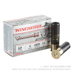"""10 Rounds of 12ga Ammo by Winchester Varmint-X - 3"""" 1 1/2 ounce BB"""