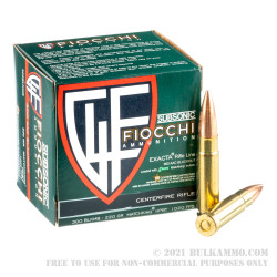 500 Rounds of .300 AAC Blackout Ammo by Fiocchi - 220gr HPBT MatchKing