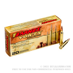 200 Rounds of 5.56x45 Ammo by Barnes VOR-TX - 70gr TSX BT