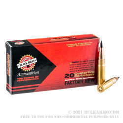 20 Rounds of .300 AAC Blackout Ammo by Black Hills Ammunition - 110gr TTSX