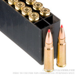 200 Rounds of 7.62x39mm Ammo by Hornady BLACK - 123gr SST