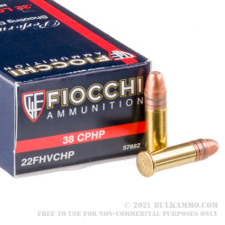 500 Rounds of .22 LR Ammo by Fiocchi - 38gr CPHP