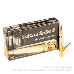 500 Rounds of 6.5 Creedmoor Ammo by Sellier & Bellot - 131gr SP