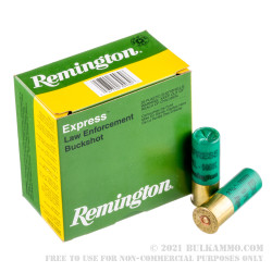 "250 Rounds of 12ga Ammo by Remington - 2 3/4"" 9P 00 Buckshot"