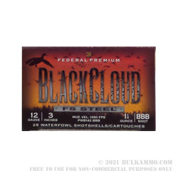 25 Rounds of 12ga Ammo by Federal - 1 1/4 ounce BBB