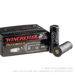 100 Rounds of 12ga Ammo by Winchester Defender - 1 ounce segmented rifled slug