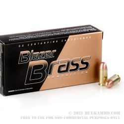 50 Rounds of .45 ACP Ammo by Blazer Brass - 230gr FMJ