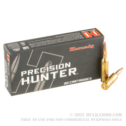 20 Rounds of 6.5 PRC Ammo by Hornady Precision Hunter - 143gr ELD-X