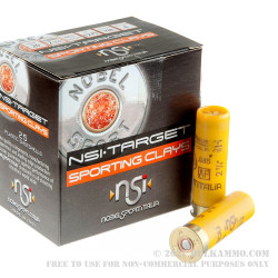 25 Rounds of 20ga Ammo by NobelSport - 7/8 ounce #8 shot