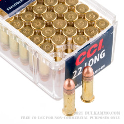 100 Rounds of .22 Long Ammo by CCI - 29gr CPRN