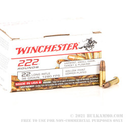 222 Rounds of .22 LR Ammo by Winchester - 36gr CPHP