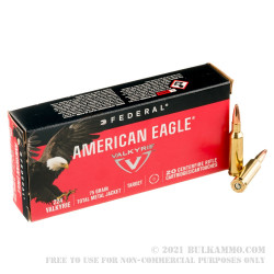 20 Rounds of .224 Valkyrie Ammo by Federal American Eagle - 75gr TMJ