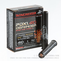 10 Rounds of .410 Ammo by Winchester Elite -  Plated Disc PDX1 Buckshot