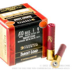 25 Rounds of .410 Ammo by Federal -  #9 shot