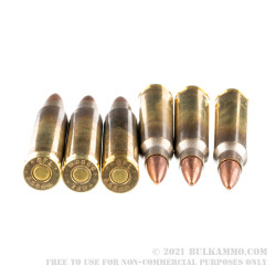 50 Rounds of 5.56x45 Ammo by Fiocchi - 55gr FMJBT M193