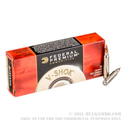 20 Rounds of .223 Ammo by Federal Premium - 40gr Nosler Ballistic Tip